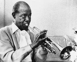 Louis Armstrong at a recording session