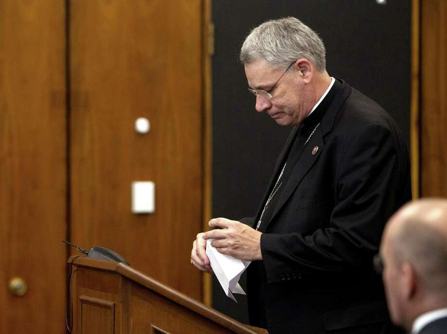 Bishop Robert Finn of the Diocese of Kansas City-St. Joseph in Missouri, pleaded guilty in 2012 to a misdemeanor charge of failure to report suspected abuse. Photo: Tammy Ljungblad /Associated Press / The Kansas City Star