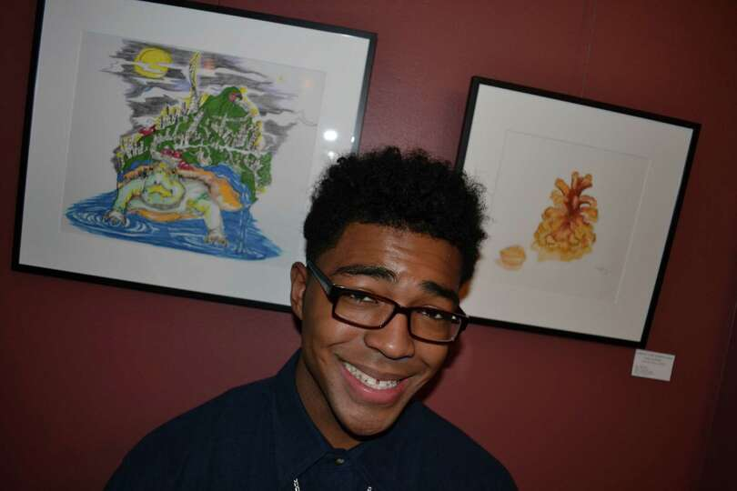 Tayron Lopez, student artist and Liberal Arts major at Schenectady County Community College, was one