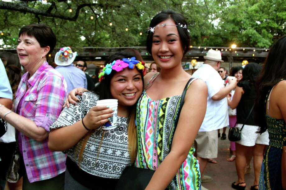 Many residents were seen at Night in Old San Antonio the largest nonparade event during Fiesta, held from 5:30 to 10:30 p.m. in La Villita through April 24. Photo: Photos By Yvonne Zamora