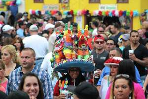Many residents were seen at Night in Old San Antonio the largest nonparade event during Fiesta, held from 5:30 to 10:30 p.m. in La Villita through April 24.