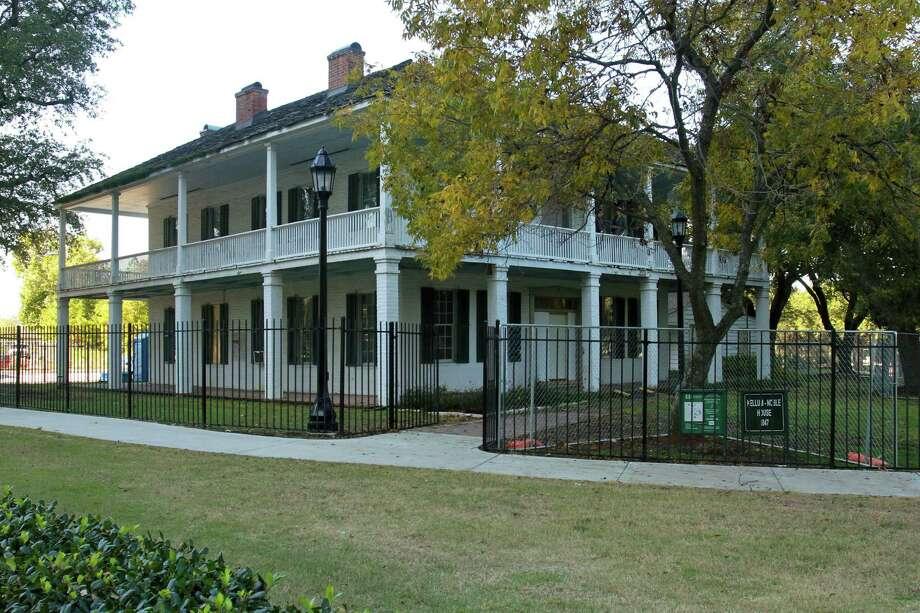 The Kellum-Noble house in Sam Houston Park. Photo: Gary Fountain, Freelance / Copyright 2014 by Gary Fountain