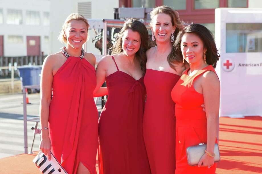 Uli Martinez, Jenny Brown, Kelly Murphy and Nielma Hock at the annual Red Cross Gala on April 17, 2015. Photo: Drew Altizer Photography/SFWIRE, Drew Altizer Photography / 2014 Drew Altiyzer