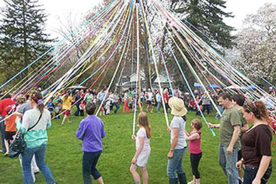 The Maypole Celebration that took place at the Wakeman Farm during last year's Westport Greenday. Photo: Contributed Photo / westport news