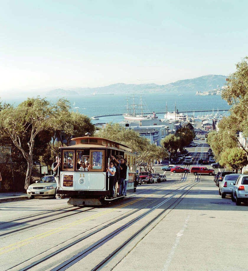 Certainly not the most practical way to navigate the city, the world's last manually operated cable car system is a thoroughly entertaining ride. And charming. And inexpensive. Photo: San Francisco Travel Association/Jack Hollingsworth