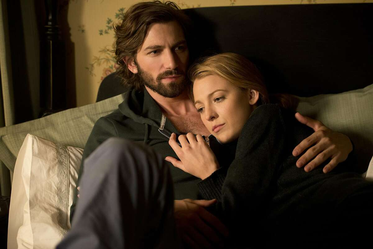 This image released by Lionsgate shows Michiel Huisman, left, and Blake Lively in a scene from