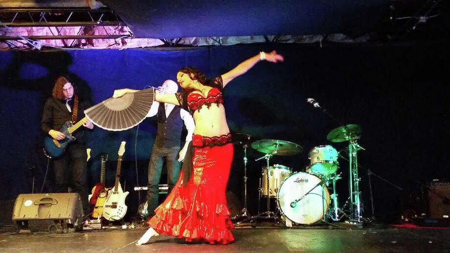The 18th Annual Evening of Bellydance, featuring Tava, center, will take place at the Factory Underground Studios in Norwalk, Conn., on Saturday, May 2, 2015. Photo: Contributed Photo / Stamford Advocate Contributed photo