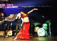 The 18th Annual Evening of Bellydance, featuring Tava, center, will take place at the Factory Underground Studios in Norwalk, Conn., on Saturday, May 2, 2015.