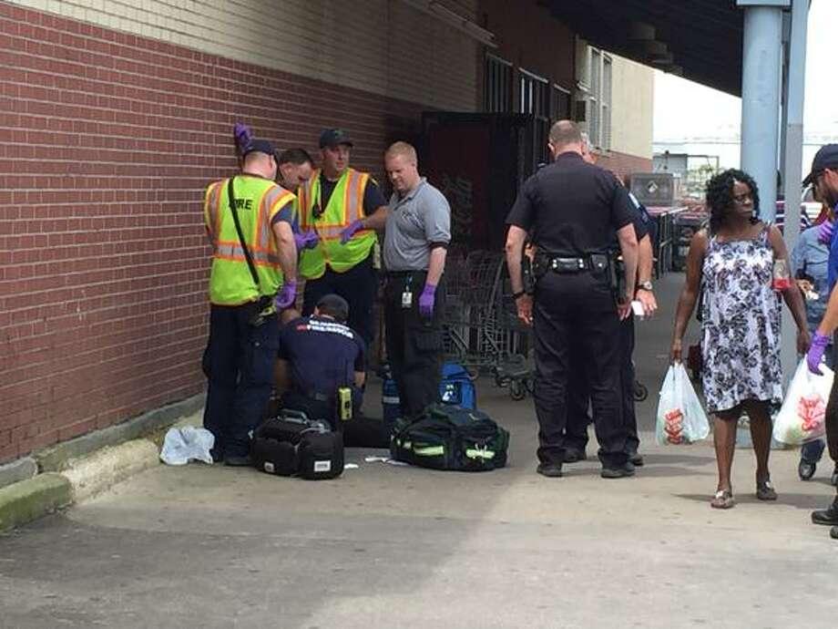 A woman was stabbed this afternoon at the H-E-B grocery store on 11th Street, according to a report by Enterprise media partner 12News.  Photo: 12News