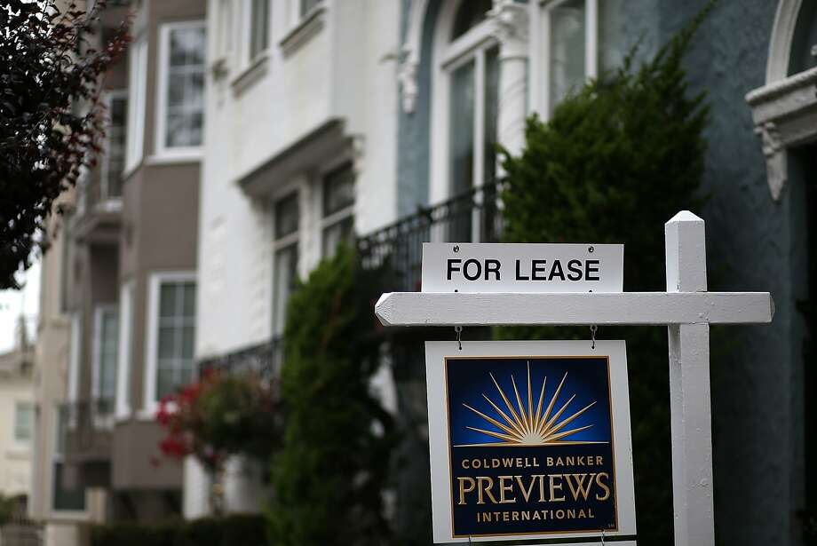In this file photo, a for lease sign is posted in front of home for rent on April 21, 2015 in San Francisco, California.  Photo: Justin Sullivan, Getty Images