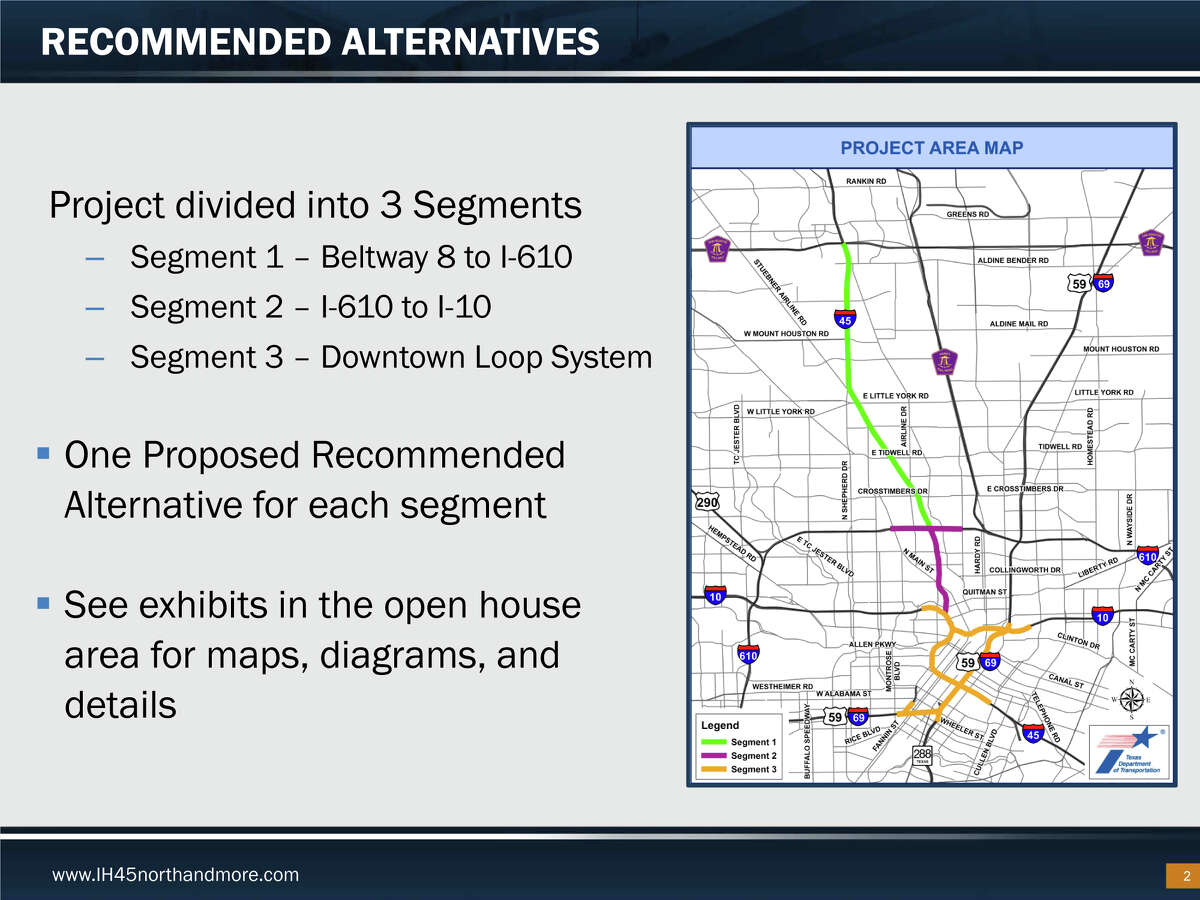 A massive plan to add managed lanes along Interstate 45 and potentially revamp downtown freeway is detailed in this TXDot presentation.