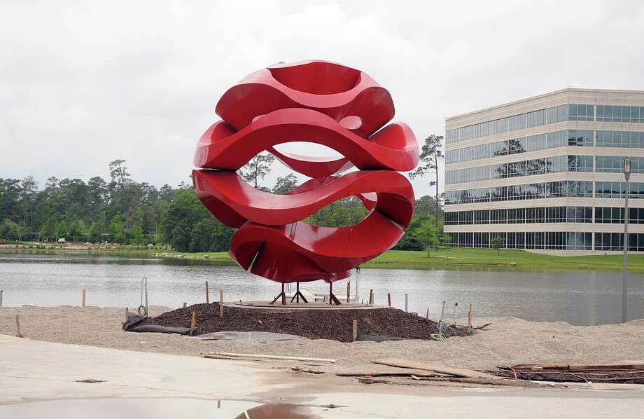 A new sculpture has been installed in the Hughes Landing's Restaurant Row, on Aviator Way.  Photograph by David Hopper Photo: David Hopper, Freelance / freelance