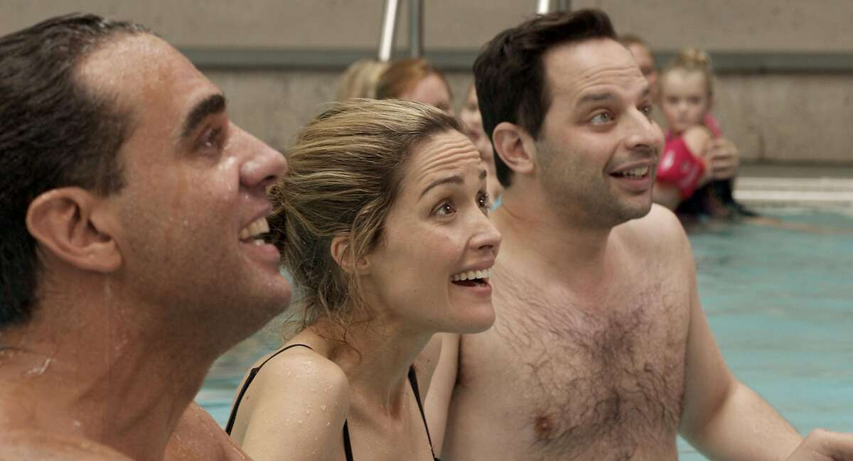 (L-r) Bobby Cannavale, Rose Byrne and Nick Kroll in a scene from