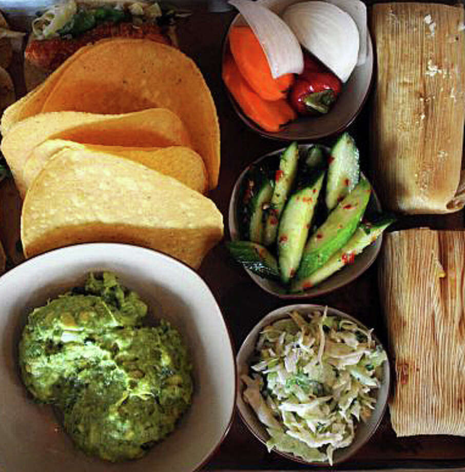 """My go-to restaurant lunch,"" wrties columnist Krista Richards Mann, ""has become Bartacoís delicious cauliflower tacos. I am pretty serious about tacos and these are incredible. (Margaritas are vegan too.) The guacamole is lovely and theyíll bring you veggies to dip in it."" Photo: Contributed Photo / Westport News"