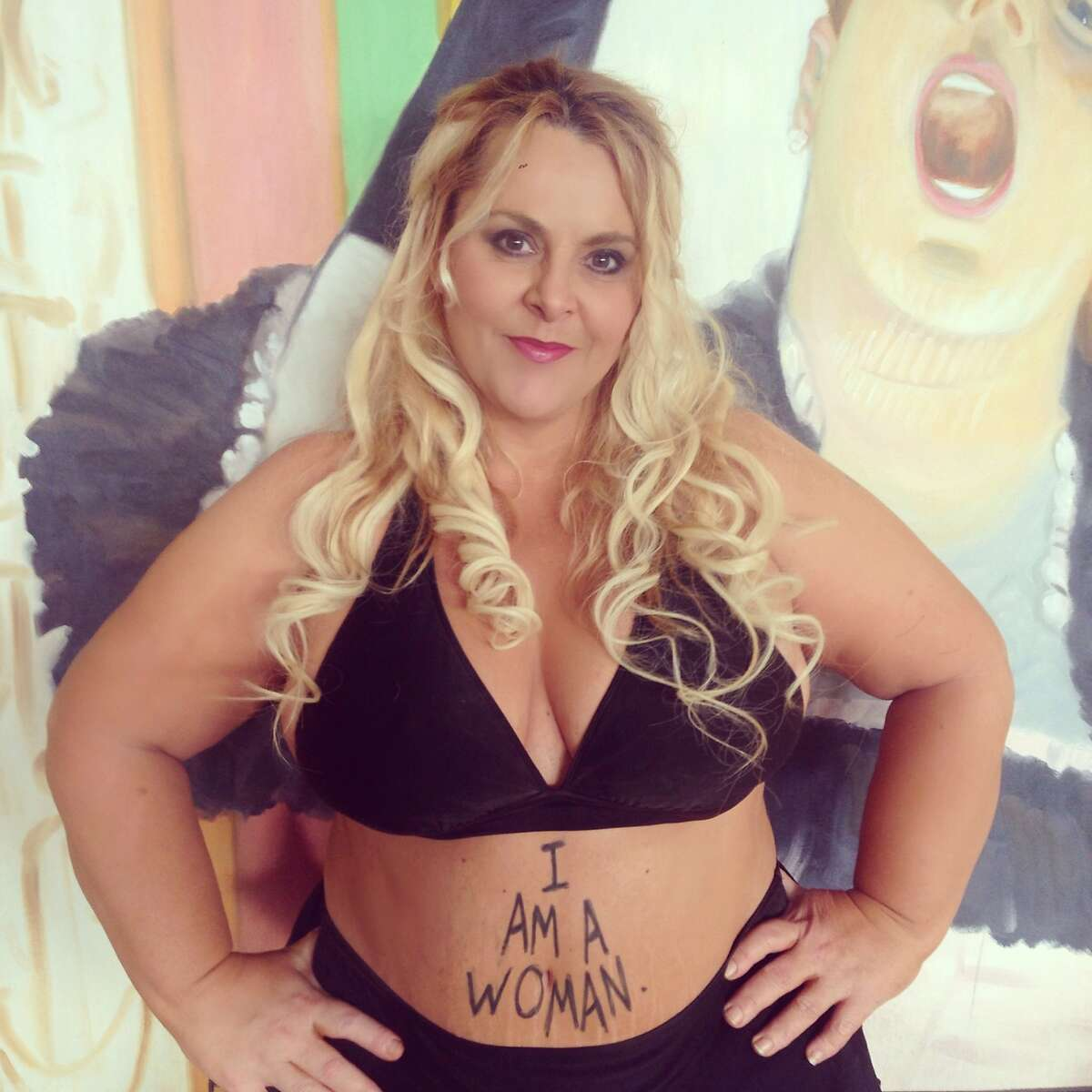 """Australian actress and author Ajay Rochester created the """"#droptheplus"""" hashtag campaign in February 2015 to discourage the title of """"plus-size model."""""""