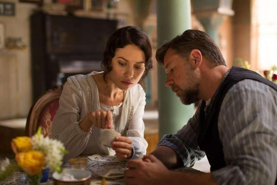 "Hotel manager Ayshe (Olga Kurylenko) helps Connor (Russell Crowe) in ""The Water Diviner."" Photo: Handout, McClatchy-Tribune News Service"