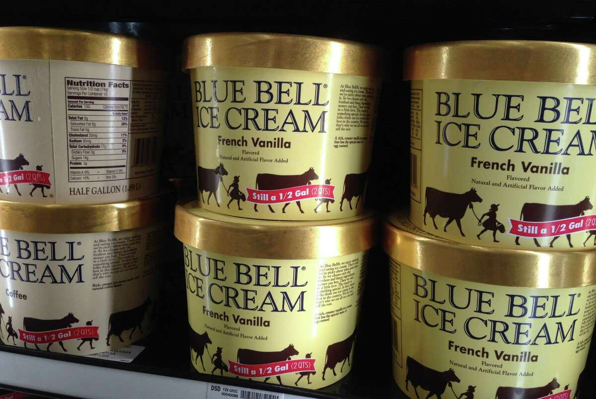 Blue Bell sells a love of Texas. When loyal blue Bell fans buy the ice cream, many are thinking of fields of bluebonnets, rolling acres of farm country, rocking chairs on a windswept porch and everything good about Texas. (AP Photo/Orlin Wagner)