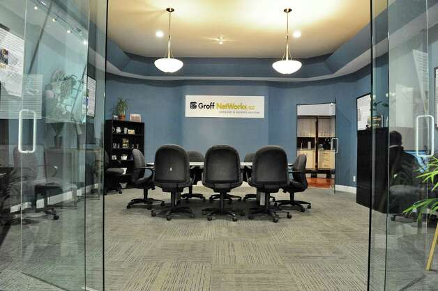 The conference room at the new offices of Groff NetWorks on 4th St. Thursday April 16, 2015 in Troy, NY.  (John Carl D'Annibale / Times Union) Photo: John Carl D'Annibale / 00031451A