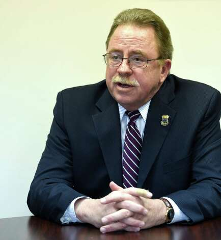 Colonie Police Chief Steve Heider speaks to the Times Union about his career and his pending retirement Wednesday afternoon April 22, 2015 in his conference room at the Public Safety building in Colonie, N.Y.       (Skip Dickstein/Times Union) Photo: SKIP DICKSTEIN / 00031573A