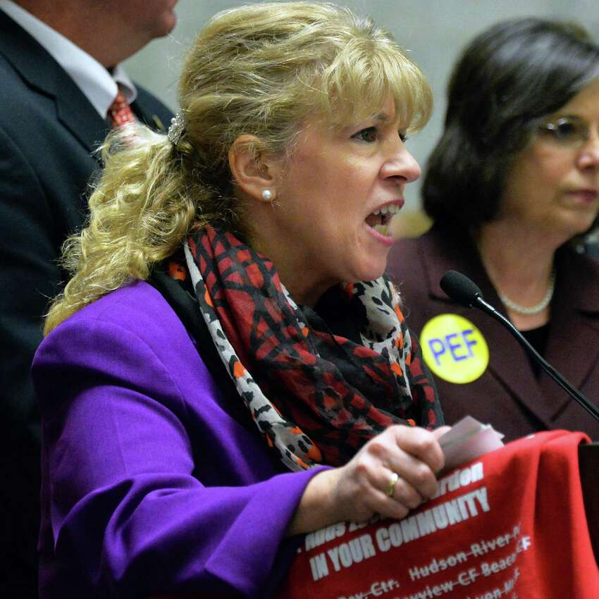 PEF President Susan Kent faced internal criticism for her handling of allegations that a downstate council leader had abused a union debit card and run up thousands of dollars in improper charges. (John Carl D'Annibale / Times Union)