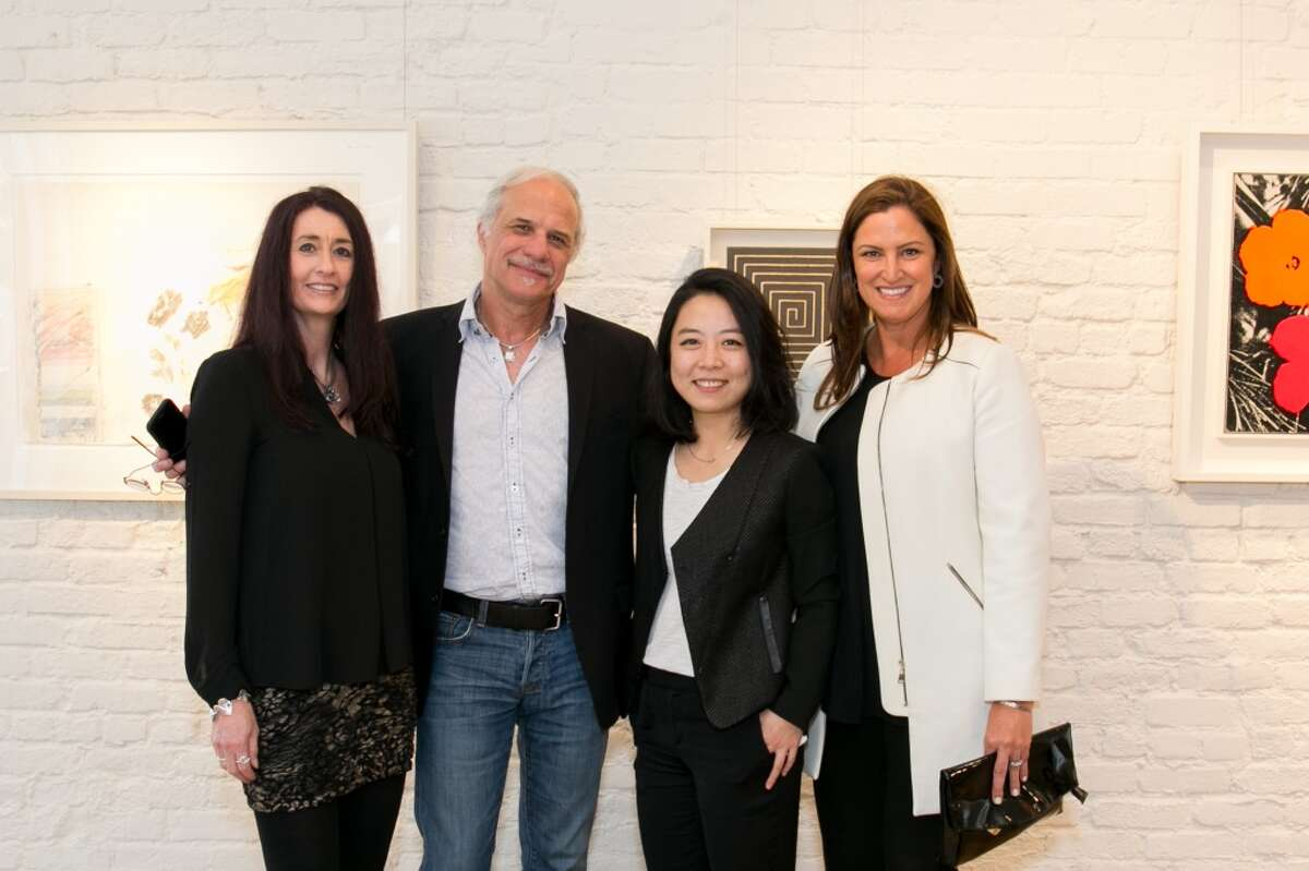 Jeaneen Whistler and Terry Whistler with Pacific Union; Kevie Yang of Christie's; Jessica Frushtick, the VP of Marketing at Pacific Union