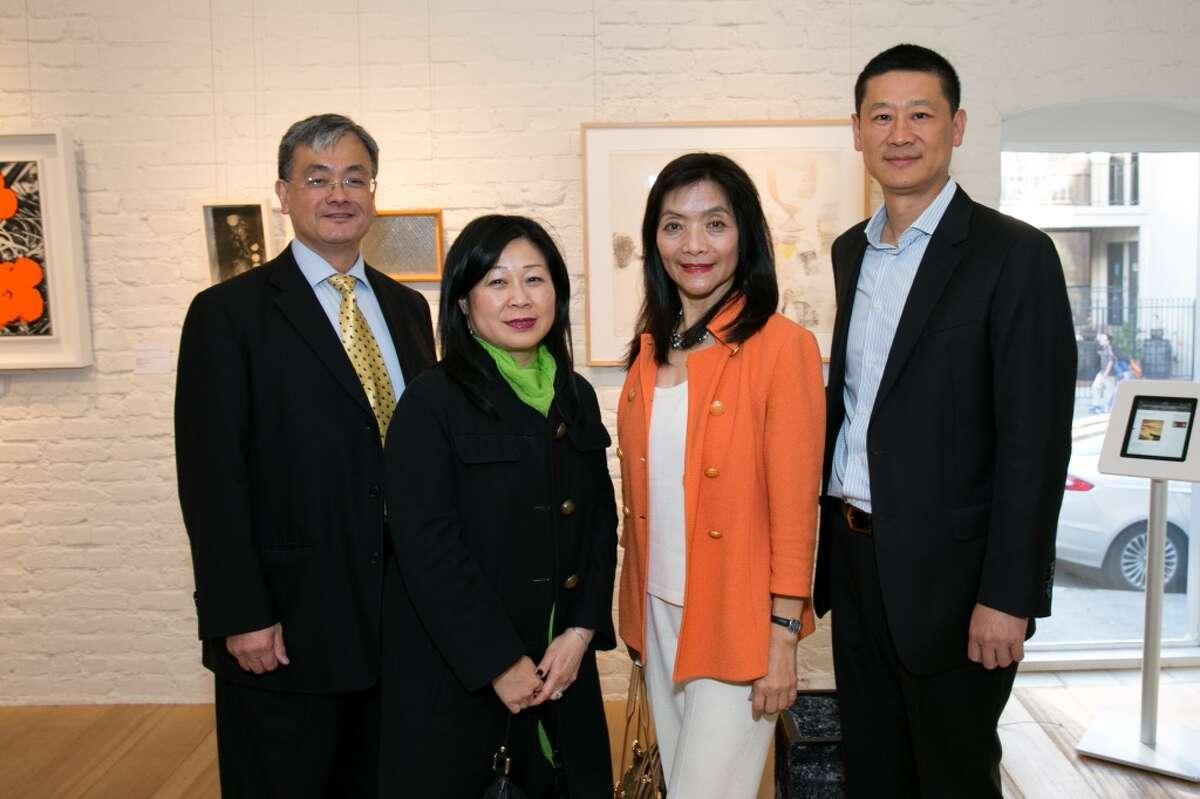 Broker John Wong; Darlene Chiu Bryant, Executive Director of ChinaSF; Broker Betty Wong; Guest Wu Zazen