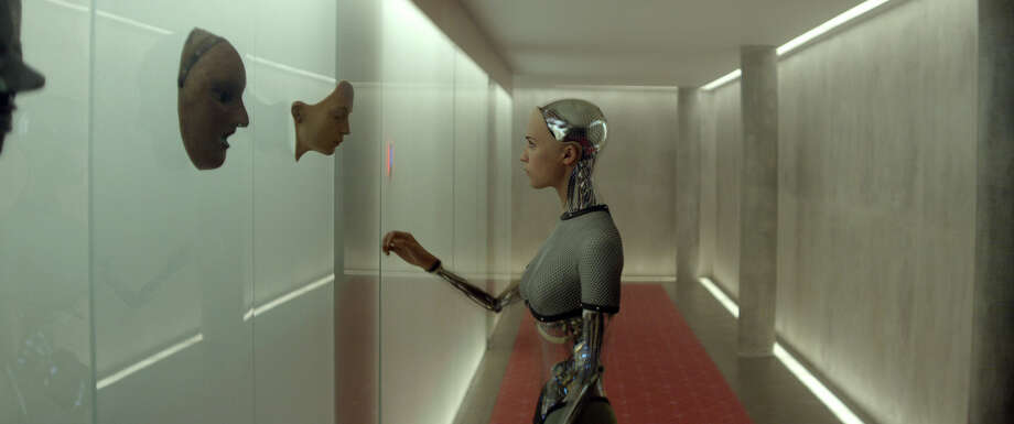 """Danish actress Alicia Vikander plays an animatronic woman named Ava in """"Ex Machina."""" The film raises questions about our culture and our future. Photo: A24 / THE WASHINGTON POST"""