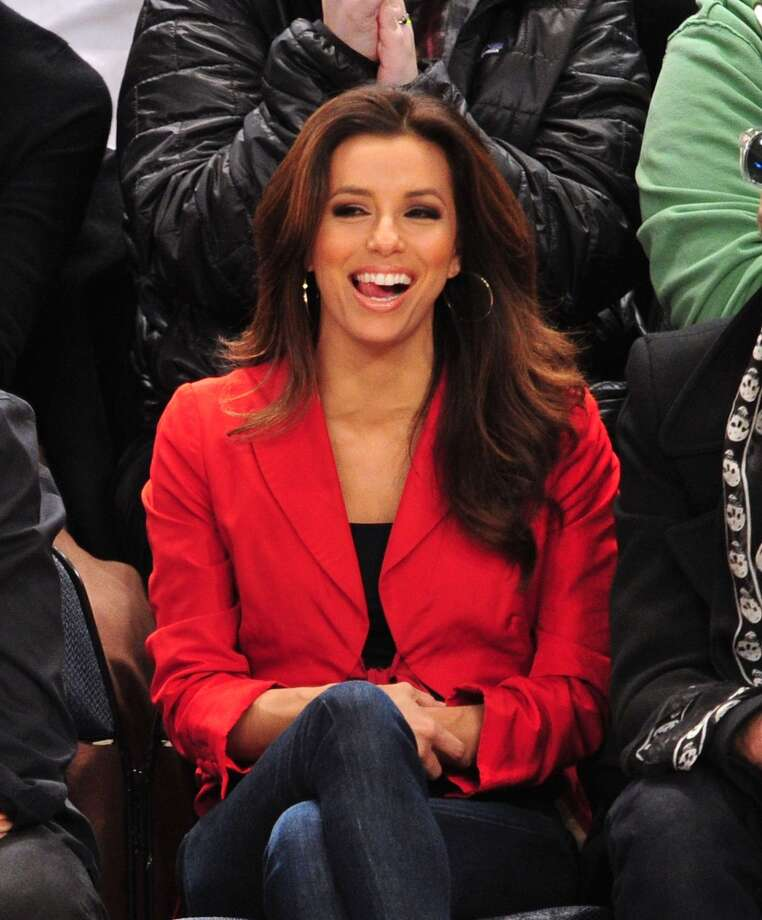 Eva Longoria attends the Dallas Mavericks vs New York Knicks game at Madison Square Garden on February 19, 2012 in New York City.  (Photo by James Devaney/WireImage) Photo: James Devaney, WireImage