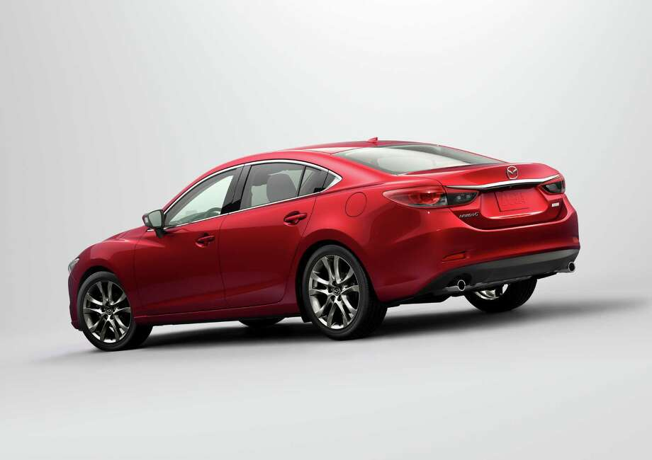 In addition to standard blind spot monitoring and rear cross-traffic alert systems, the Mazda6 Touring and Grand Touring come with 19-inch alloy wheels and 225/45R19 tires. Photo: Mazda