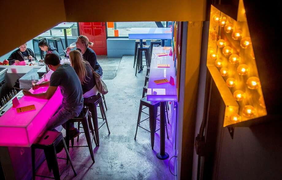 Happy hour at Zoomaak in San Francisco, Calif.,  is seen on April 22nd, 2015. Photo: John Storey, Special To The Chronicle