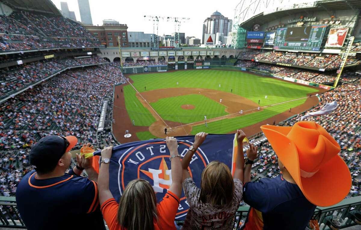 Houston's baseball and football teams play in … Houston!