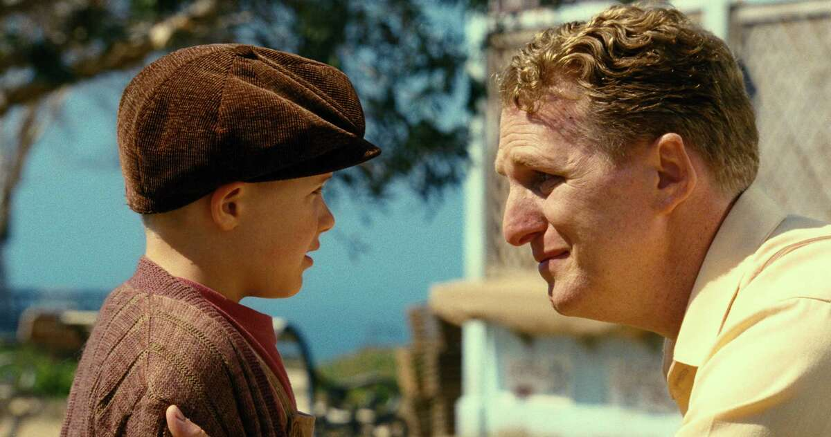 """Jakob Salvati, left, and Michael Rapaport star in """"Little Boy,"""" about a youth struggling to keep the faith about his enlisted father in World War II."""