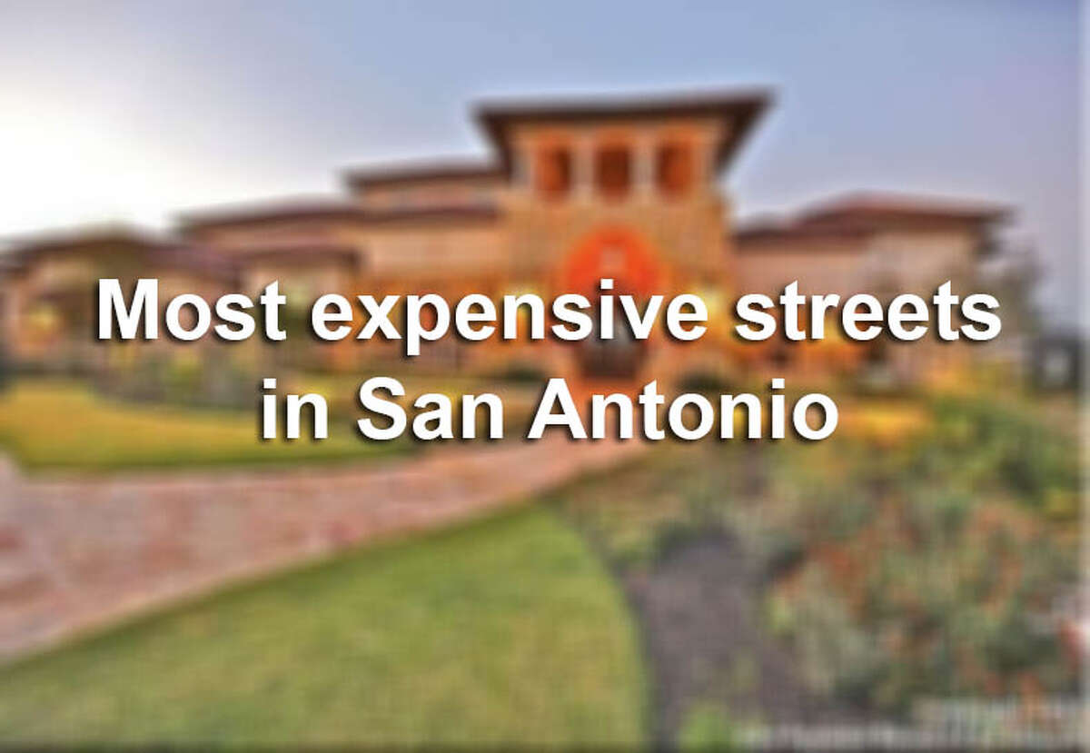 Click through to see the nine San Antonio-area streets with the highest median home value.