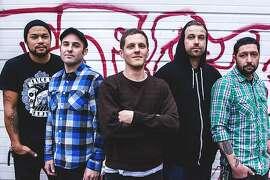 "Get Dead: Left to right: David ""Moki"" Marino, Mike McGuire, Tim Mehew, Sam King, Scott Powell."