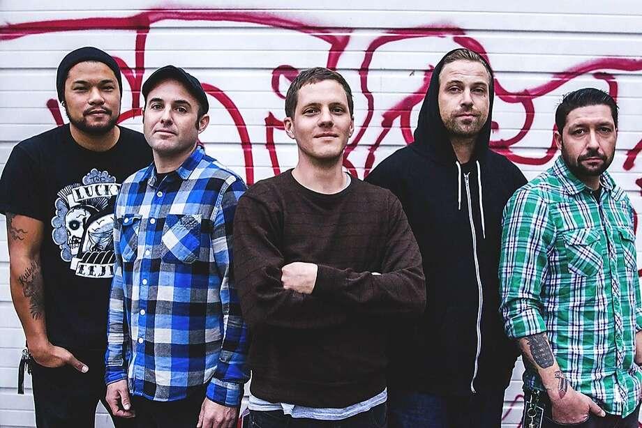 "Get Dead: Left to right: David ""Moki"" Marino, Mike McGuire, Tim Mehew, Sam King, Scott Powell. Photo: Katie Hovland"