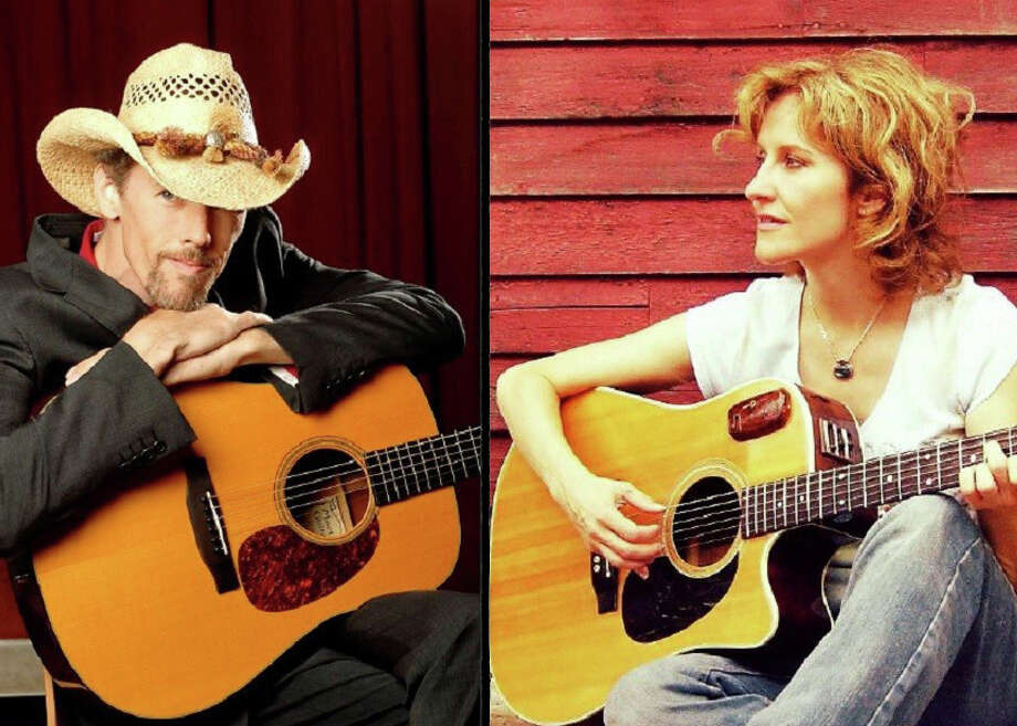 Jonathan Byrd, left, and Sally Barris will perform May 9 at the Voices Cafe at the Unitarian Church. Photo: Contributed Photo / westport news