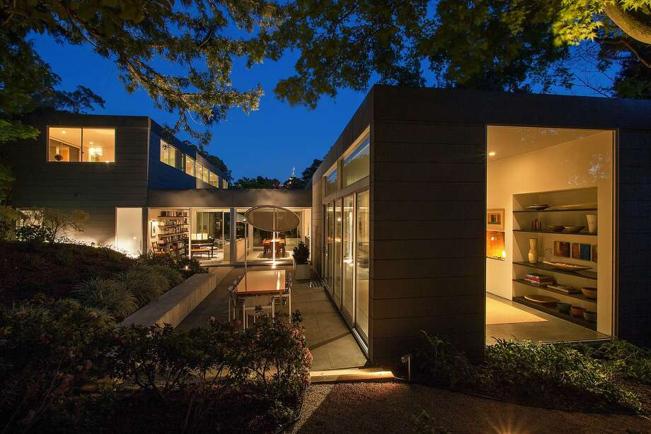Blasen Landscape Architecture designed the exterior of 25 Tanglewood Road. Click here to see more listings in Berkeley.  Photo: Open Homes Photography