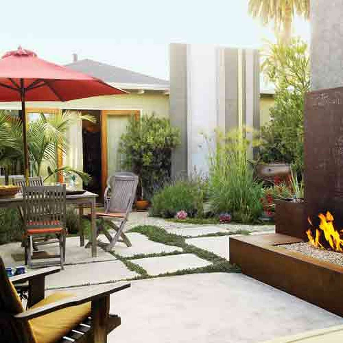 From lawn to private retreat