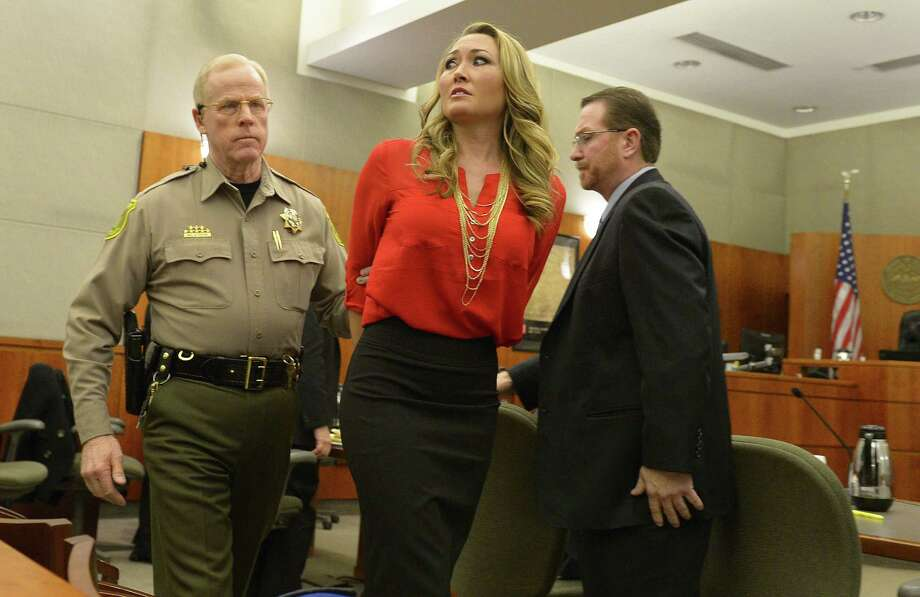 FILE - In this Jan. 15, 2015, file photo, Brianne Altice, 35, middle, is taken into custody and ordered to stand trial in 2nd District Court, in Farmington, Utah. Altice, a former teacher accused of having sexual relationships with three of her students is pleading guilty to the charges. The Standard-Examiner newspaper in Ogden reports that 35-year-old Altice entered guilty pleas Wednesday, April 22, 2015, in a court in Bountiful to three counts of forcible sexual abuse. Photo: Leah Hogsten, AP / The Salt Lake Tribune POOL
