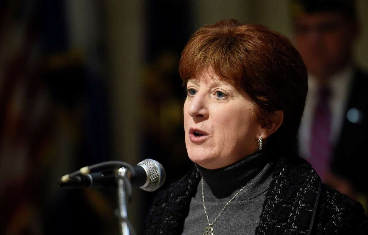 Albany Mayor Kathy Sheehan announced today April 23, 2015 the kick off new fund to support Albany arts, education and cultural programs, during a press conference in the rotunda of the Albany City Hall in Albany, N.Y. (Skip Dickstein/Times Union)