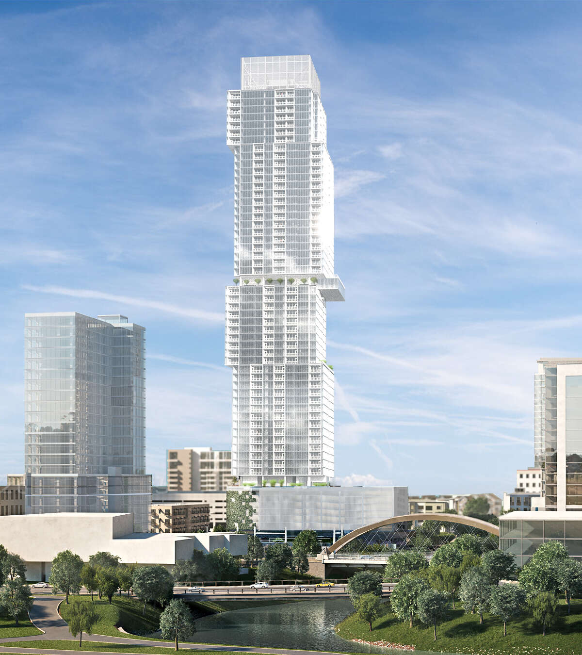 The rendering shows the Independent is designed to look like in downtown Austin.