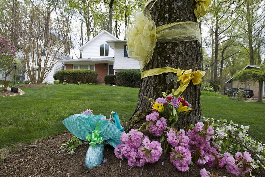 "Flowers and ribbons adorn a tree outside the Weinstein familyhouse in Rockville, Md., Thursday, April 23, 2015. Earlier, President Barack Obama took full responsibility for the counterterror missions and offered his ""grief and condolences"" to the families of the hostages, Warren Weinstein of Rockville, Maryland, and Giovanni Lo Porto who were inadvertently killed by CIA drone strikes early this year.  (AP Photo/Jose Luis Magana) Photo: Jose Luis Magana, Associated Press"