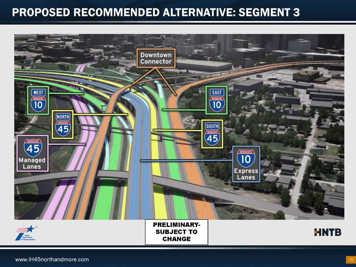 Plans for the North Houston Freeway Improvement Project include the foreclosure of more than 1,000 homes and several businesses and churches for expansion.