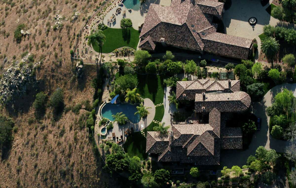 Aerial view overlooking landscaping on April 4, 2015 in San Diego, Calif. The drought has hit California hard and the hunt is on for individual water-wasters. Click through to see more stark images the drought.