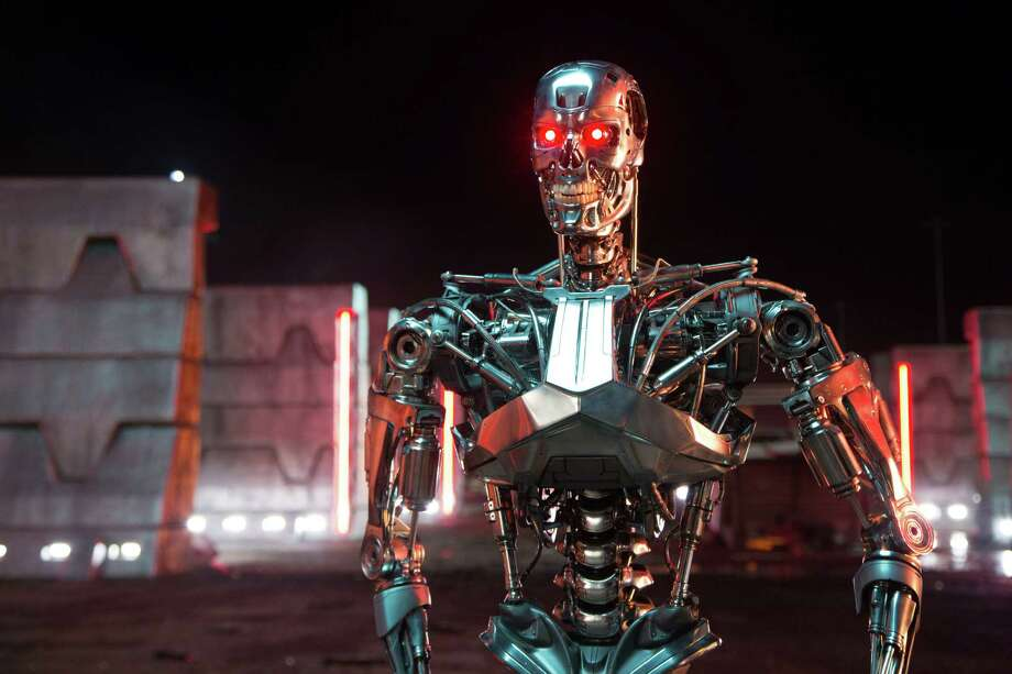 """This image released by Paramount Pictures shows a scene from """"Terminator: Genisys,"""" the fifth film in the series created by James Cameron in 1984. (Melinda Sue Gordon/Paramount Pictures via AP) Photo: Melinda Sue Gordon, HONS / Associated Press / Paramount Pictures"""