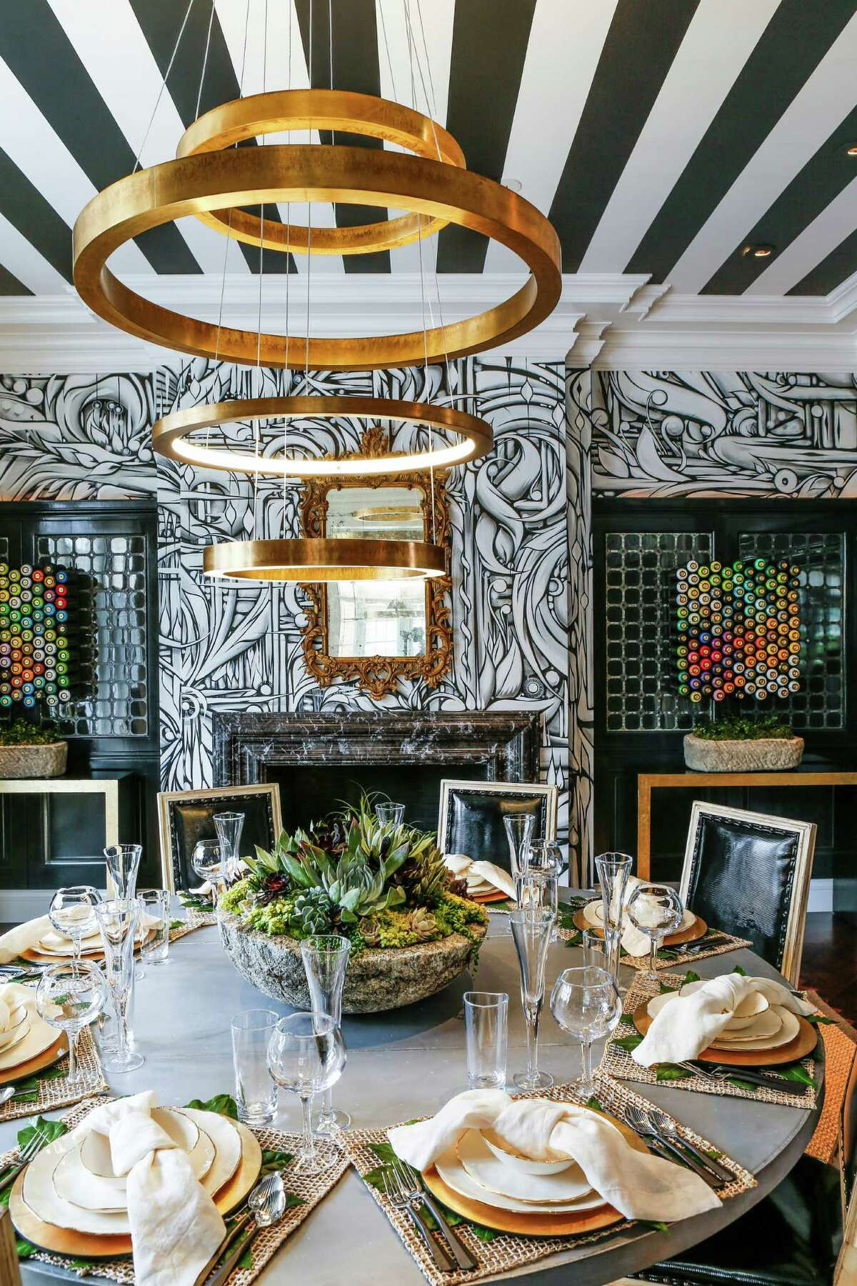 """Cecilie Starin designed the Decorator Showcase house's dining room with the intention """"to shake it up a bit."""""""