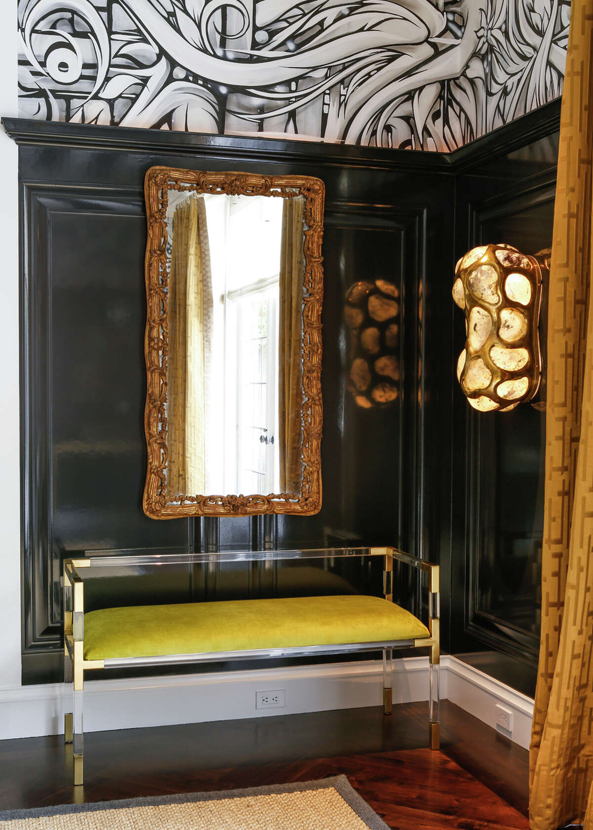 Starin uses classically inspired, contemporary furniture with simple, clean lines to freshen up the Victorian interior.
