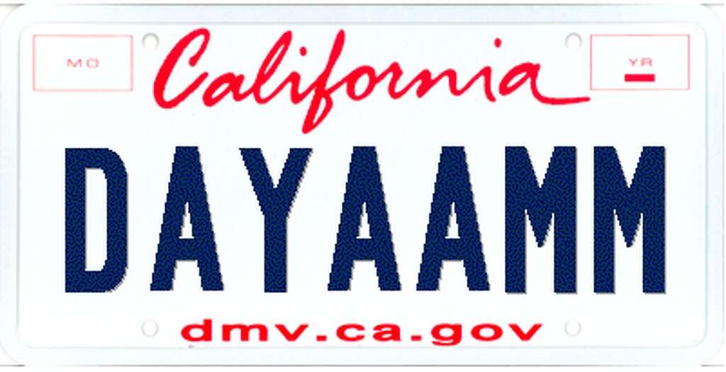 California dmv personalized license plate