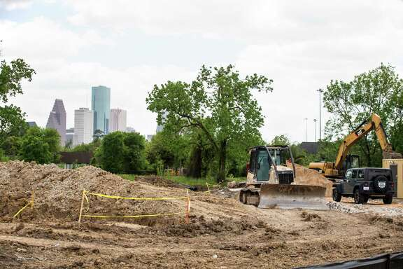 A construction site near the intersection of Main and North is shown on Tuesday, March 31, 2015, in the Near Northside section of Houston. ( Brett Coomer / Houston Chronicle )