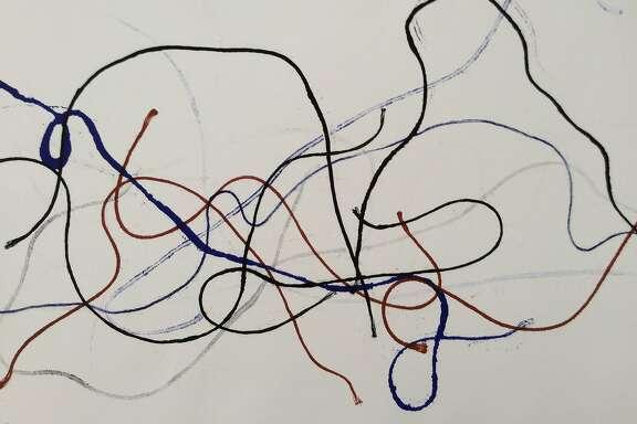 """Untitled"" (1990s) monoprint by David Ireland"